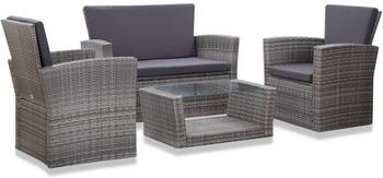 vidaXL Garten-Lounge-Set mit Auflagen 4-tlg.