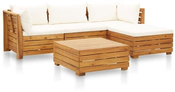 vidaXL Garden Set in Acacia (5 Pieces)