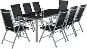 TecTake Aluminium Sitzgruppe 8+1 hellgrau (TT402165)