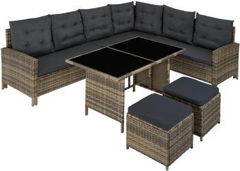 TecTake Barletta Rattan Lounge Variante 2 natur (TT403721)
