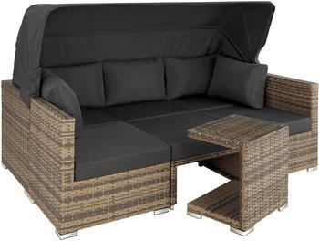 TecTake San Marino Rattan Lounge mit Aluminiumgestell natur (TT403713)