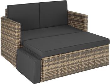 TecTake Korfu Rattan Lounge Variante 2 natur (TT403688)