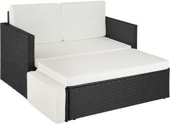 TecTake Korfu Rattan Lounge Variante 2 schwarz (TT403883)