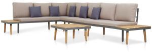 vidaXL 5-tlg. Lounge-Set inkl. Auflagen Massivholz Akazie braun (46482)