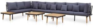 vidaXL 7-tlg. Lounge-Set inkl. Auflagen Massivholz Akazie (46485)