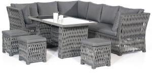 SunnySmart Olympia Loungemöbel metallic-schwarz