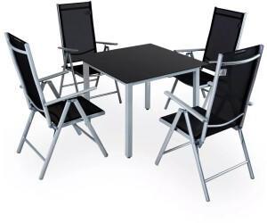 Casaria Bern Sitzgruppe 5-tlg. Silber Alu
