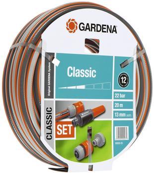 """Gardena PVC-Schlauch Classic 1/2"""" - 20 m mit Systemteilen (18008-20)"""