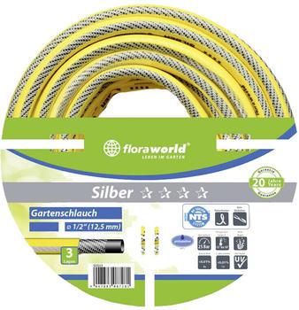 """Floraworld Wasserschlauch Silber 12,5mm (1/2"""") 20 m (023222)"""