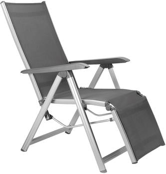 Kettler Basic Plus Relaxsessel Aluminium/Textilene silber/grau (301216-0000)