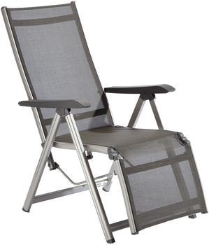 Kettler Basic Plus Relaxsessel Aluminium/Textilene champagner/mocca (301216-1000)