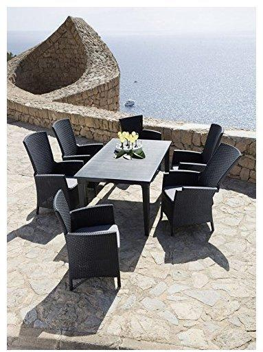 Best Dining Sessel Capri mit Relaxfunktion graphit