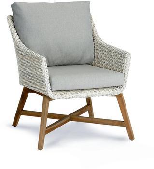 Best Lounge-Sessel Paterna teakholz/alabaster 88x65x82cm (41391504)