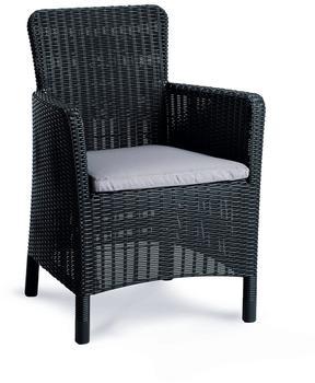 Best Dining-Sessel Venezia graphit/hellgrau 62x60x89cm (13710050)
