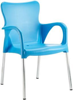 BEST Maui 54 x 52 x 81 cm silber/blau 4 Stück