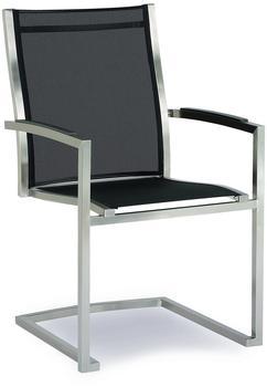 Best Freischwing-Sessel Marbella edelstahl/schwarz 64x57x93cm (47881151)