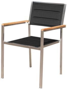 Outflexx Stuhl schwarz Armlehnen Teakholz schwarz (WF-Y5086B)