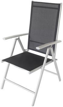 VILLANA Multipositionssessel silber/schwarz Aluminium/Textil schwarz (HT-C014 silber)