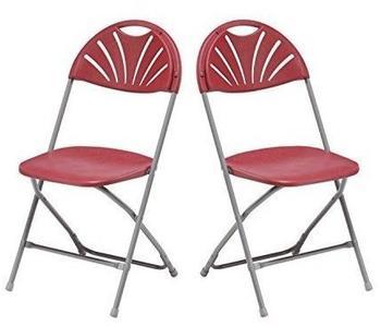 Flexfurn 2x Klappstuhl Gartenstuhl Campingstuhl Gastronomie Bistro Stuhl Stühle bordeaux