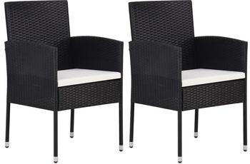 vidaXL Garden Chairs in Braided Resin (2 Pieces)