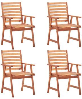 vidaXL Outdoor Chairs in Acacia (4 Pieces)