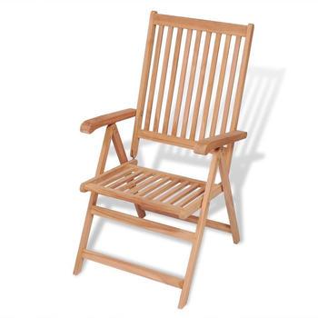vidaXL Reclining Garden Chair in Teak