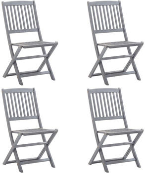 vidaXL Folding Outdoor Chairs in Acacia (4 Pieces)