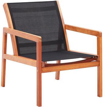 vidaXL Garden Chair Eucalyptus Wood/Black