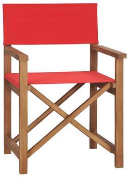 vidaXL Director's Chair Red