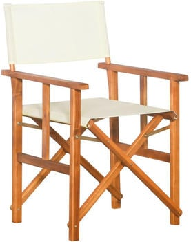 vidaXL Director's Chair White