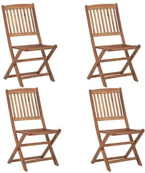 vidaXL Foldable Garden Chair Acacia 4 Pieces