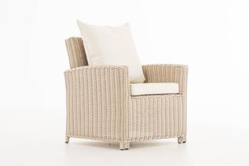 CLP Sessel Fisolo 5mm Rundrattan rund perlweiß cremeweiß