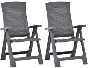 vidaXL Garden Reclining Chairs - Mocca Brown