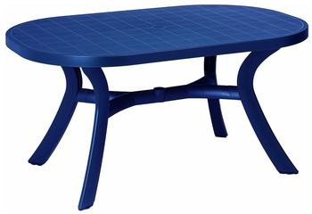 Best Kansas Tisch oval 145x95cm blau