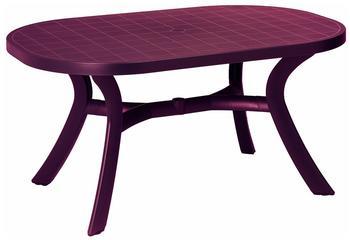 Best Kansas Tisch oval 145x95cm bordeaux