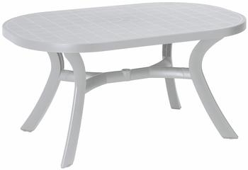Best Kansas Tisch oval 145x95cm weiß