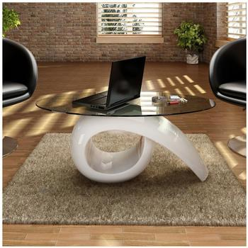 vidaXL Side Table (240431) white