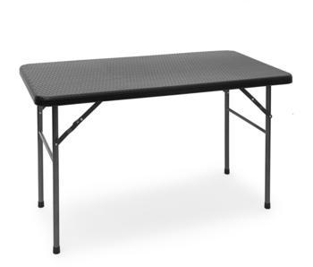 Relaxdays Bastian 121,5 x 61,5 cm schwarz klappbar