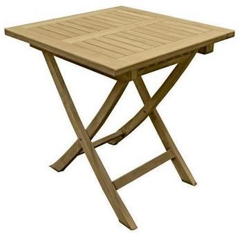 Garden Pleasure Tisch Solo quadratisch, 70x70 cm Teak