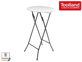 Toolland Robuster und stabiler Stehtisch, Kunststoff mit Stahlgestell, klappbar, Ø 60 cm