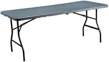 CONNEX Gartentisch 180 x 74 cm grau klappbar