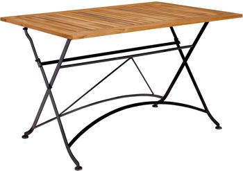Butlers PARKLIFE Tisch 80 x 130 cm schwarz/hellbraun