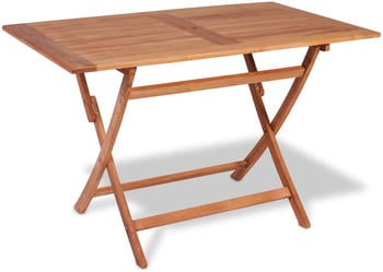 vidaXL Foldable Garden Table in Teak 120 x 70 x 75 cm
