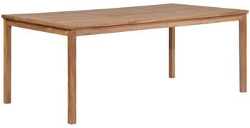 vidaXL Big Garden Table in Teak 200 x 100 x 77 cm