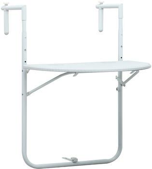 vidaXL Balcony Table in Plastic White