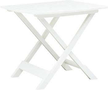 vidaXL Garden Table Foldable in White Plastic