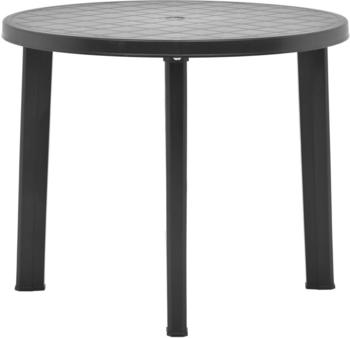 vidaXL Garden Table Plastic 89 cm Anthracite