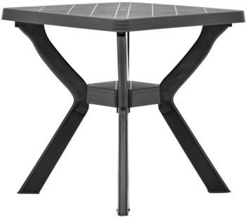 vidaXL Bistro Table Plastic 70 x 70 cm Anthracite
