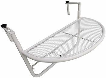 Outsunny Balkonhängetisch 60x45cm weiß