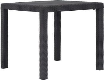 vidaXL Garden Table Plastic 79 x 79 cm Brown